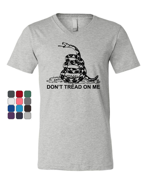 Don't Tread On Me V-Neck T-Shirt - Tee Hunt - 1
