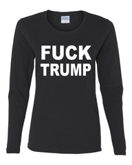F**K Trump Long Sleeve T-Shirt Anti Trump Political - Tee Hunt - 2