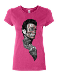 Tattoed Face Guy Cotton T-Shirt Day of the Dead Calavera