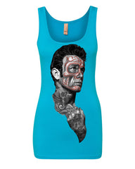 Tattoed Face Guy Tank Top Day of the Dead Calavera Top
