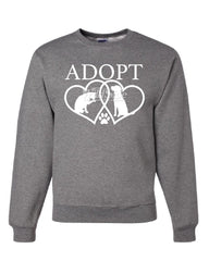 Adopt Pets Sweatshirt Cat Dog Kitten Puppy Adoption Animal Rescue Sweater