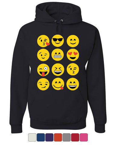 Emoji Funny Hoodie Smiley Face Texting Sweatshirt