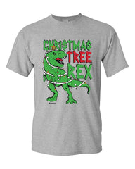 Christmas Tree Rex T-Shirt Funny T-Rex Xmas Tree Holidays Santa  Mens Tee Shirt