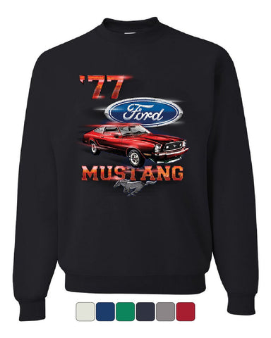 Ford Mustang '77 Sweatshirt American Classic Muscle Car Sweater