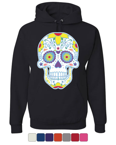 Sugar Skull Day of the Dead Hoodie Calavera Dia de los Muertos