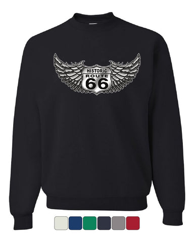 Historic Route 66 Sweatshirt The Mother Road American Biker MC Sweater