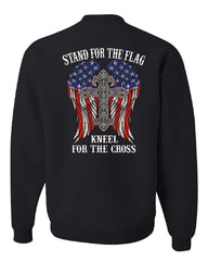 Stand for the Flag Kneel for the Cross Sweatshirt Patriot Political Sweater