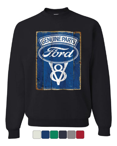 Ford Genuine Parts Sweatshirt Vintage Rusty Ford V8 Sign Sweater