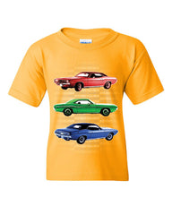 1970 Dodge Challenger Youth T-Shirt 1st Gen T/A Classic Muscle Car Kids Tee