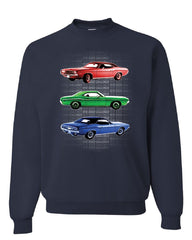 1970 Dodge Challenger Sweatshirt 1st Gen T/A Classic Muscle Car Sweater