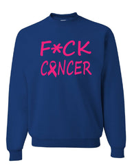 F*ck Cancer Sweatshirt Fight Breast Cancer Awareness October