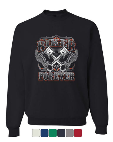 Biker Forever Sweatshirt Chopper Bobber Motorcycle MC Route 66 Sweater