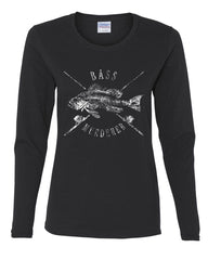 Bass Murderer Women's Long Sleeve Tee Funny Mass Murderer Parody Fishing