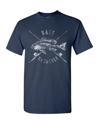 Bass Murderer T-Shirt Funny Mass Murderer Parody Fishing Mens Tee Shirt