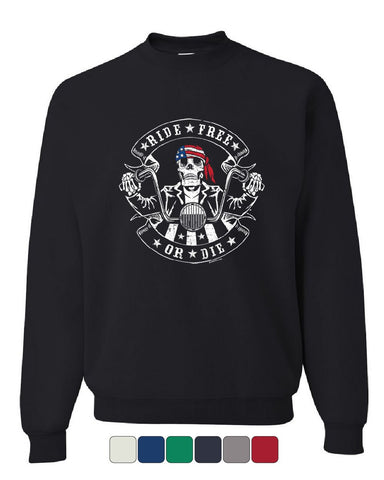 Ride Free or Die Sweatshirt American Biker Route 66 Bike Week MC Sweater