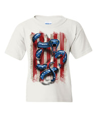 American Serpent Youth T-Shirt Don't Tread on Me Gadsden Flag Kids Tee