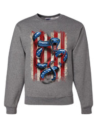 American Serpent Sweatshirt Don't Tread on Me Gadsden Flag Sweater