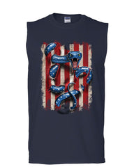 American Serpent Muscle Shirt Don't Tread on Me Gadsden Flag Sleeveless