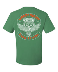 America's Highway T-Shirt Born to Ride Route 66 Biker MC Chopper Tee Shirt