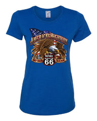 America's Highway Route 66 Women's T-Shirt Get your Kicks Ride or Die Tee