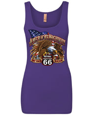 America's Highway Route 66 Women's Tank Top Get your Kicks Ride or Die Top