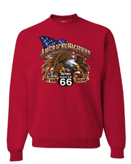America's Highway Route 66 Sweatshirt Get your Kicks Ride or Die Sweater