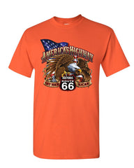 America's Highway Route 66 T-Shirt Get your Kicks Ride or Die Mens Tee Shirt
