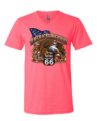 America's Highway Route 66 V-Neck T-Shirt Get your Kicks Ride or Die Tee