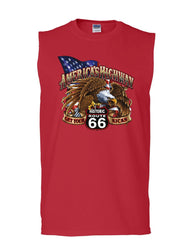America's Highway Route 66 Muscle Shirt Get your Kicks Ride or Die Sleeveless