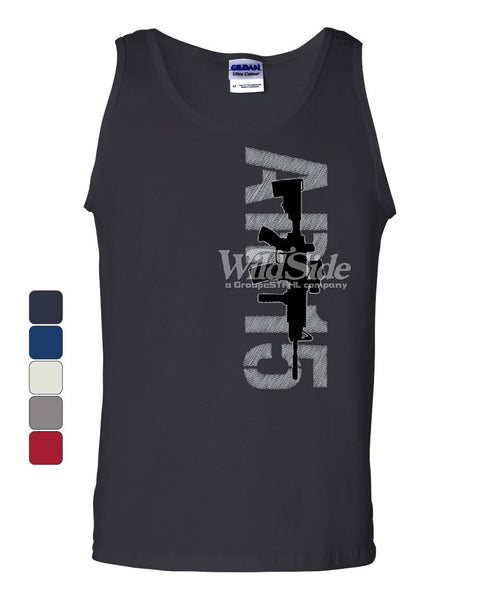 AR-15 Rifle Tank Top Right to Bear Arms 2nd Amendment Gun Rights Sleeveless