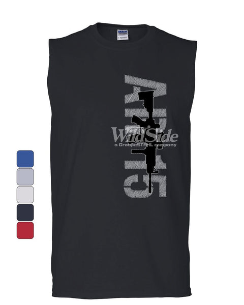 AR-15 Rifle Muscle Shirt Right to Bear Arms 2nd Amendment Gun Rights Sleeveless