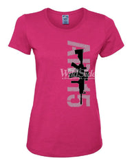 AR-15 Rifle Women's T-Shirt Right to Bear Arms 2nd Amendment Gun Rights Tee