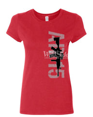 AR-15 Rifle Women's T-Shirt Right to Bear Arms 2nd Amendment Gun Rights Shirt