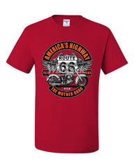 America's Highway Route 66 T-Shirt The Mother Road Biker Chopper Tee Shirt