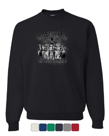 America Love It or Give It Back! Sweatshirt Native American Indians Sweater