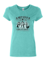 America Love It or Give It Back! Women's T-Shirt Native American Indians Shirt