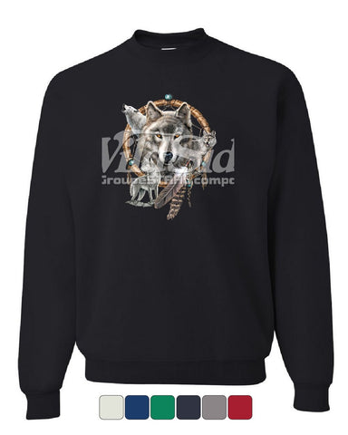 Wolves Dreamcatcher Sweatshirt Wild Howl Animals Wilderness Nature Sweater