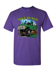 Drive 'Em Wild T-Shirt Ford Pickup Trucks F-150 Offroad Mud Ride Mens Tee Shirt