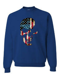 Skull Americana Sweatshirt Patriotic 4th of July Stars and Stripes Sweater