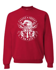 Live Free or Die Sweatshirt Eagle Biker 2nd Amendment American Flag Sweater