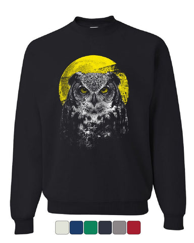 Night Owl Sweatshirt Bird Nature Wildlife Wilderness Wisdom Moon Sweater