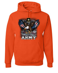 United States Army Hoodie Bald Eagle Army Strong Since 1775 USA Sweatshirt