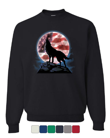 American Howling Wolf Sweatshirt Wildlife Animal Wolves Wilderness Sweater