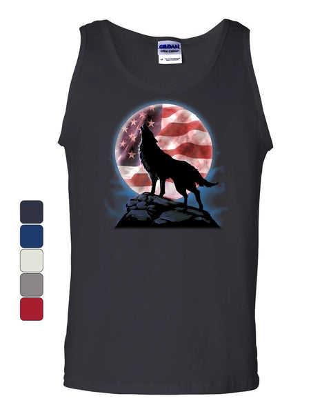 American Howling Wolf Tank Top Wildlife Animal Wolves Wilderness Sleeveless