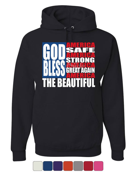 God Bless America Hoodie Patriotic USA Independence 4th of July Sweatshirt