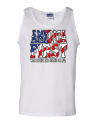 America First Tank Top Liberty and Justice for All 4th of July Sleeveless