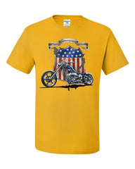 All American Pride Route 66 T-Shirt Biker Chopper Ride or Die Tee Shirt
