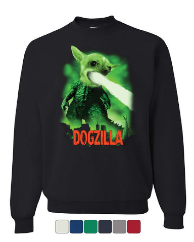 Dogzilla Funny Sweatshirt Movie Parody Dog Pet Lovers Atomic Breath Sweater