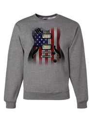 American Flag Guitar Sweatshirt Rock and Roll Music Art 4th of July Sweater