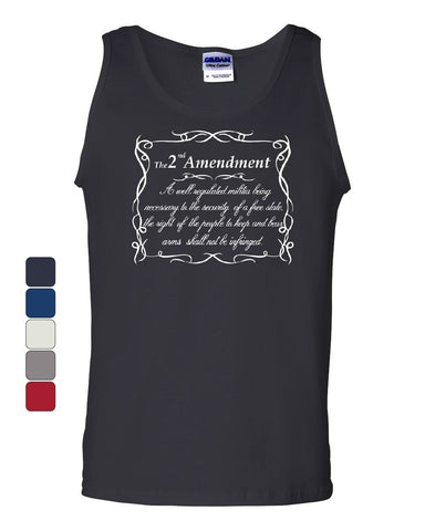 2nd Amendment Tank Top Freedom Right to Bear Arms Constitution Sleeveless